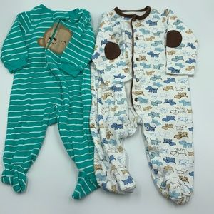 3-6 mo boy sleepers footed pj